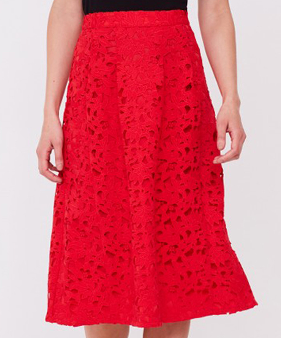 Coral lace skirt Sale - Sosandar