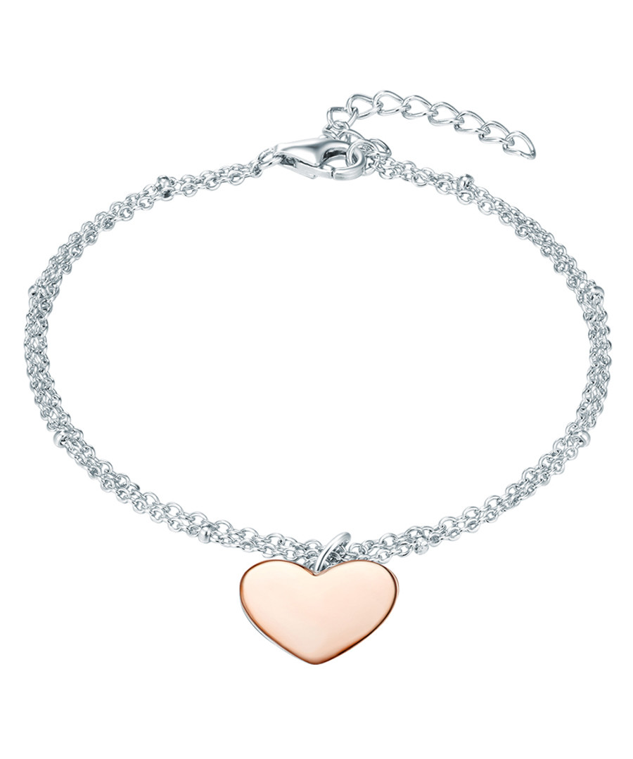 Rhodium-plated heart bracelet Sale - carat 1934