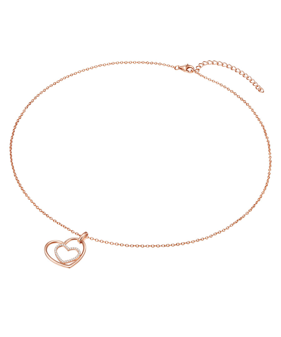 Rose gold-plated heart necklace Sale - carat 1934