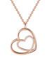 Rose gold-plated heart necklace Sale - carat 1934 Sale