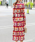 Crimson printed knee-length dress Sale - BURRYCO Sale