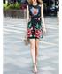 Black & red rose print mini dress Sale - BURRYCO Sale
