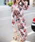 Light pink cotton blend pattern dress Sale - BURRYCO Sale