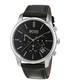 Black & silver-tone leather strap watch Sale - hugo boss Sale