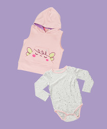 2pc Girls' Sleepy Fairy cotton blend set