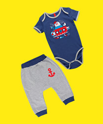 2pc Boy's Submarine cotton blend set