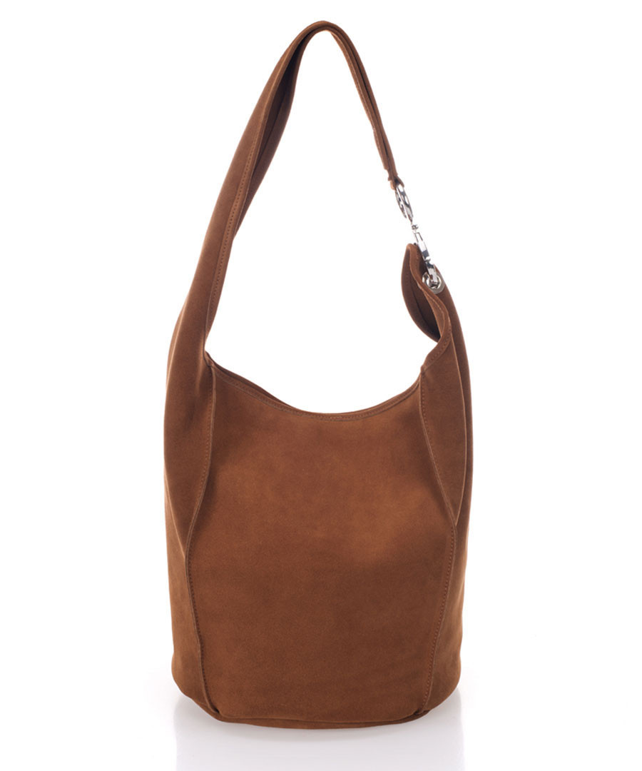 Tan brown suede shoulder bag  Sale - zoe & noe