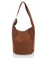 Tan brown suede shoulder bag  Sale - zoe & noe Sale