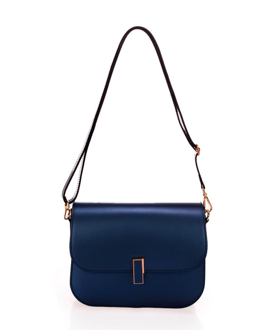 Blue leather crossbody bag  Sale - zoe & noe