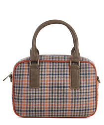 Austin olive & orange check grab bag