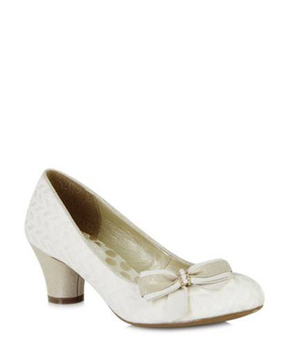 Lilly cream bow detail low heels Sale - ruby shoo Sale c416a254b7