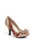 Amy gold & pink floral print heels Sale - ruby shoo Sale