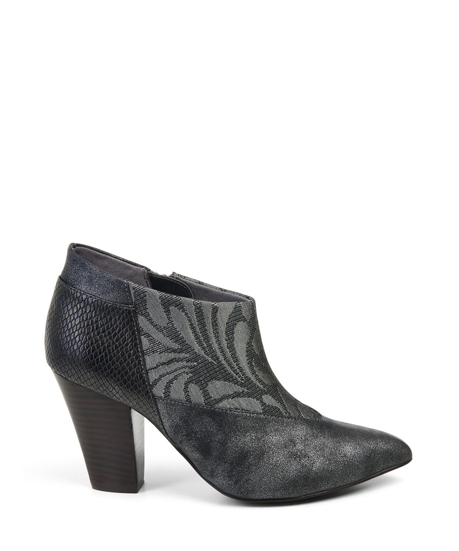 Erika pewter embroidered ankle boots Sale - ruby shoo