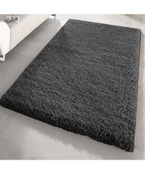 Black shaggy pile rug 66 x 110cm