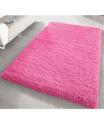 Pink shaggy pile rug 66 x 110cm