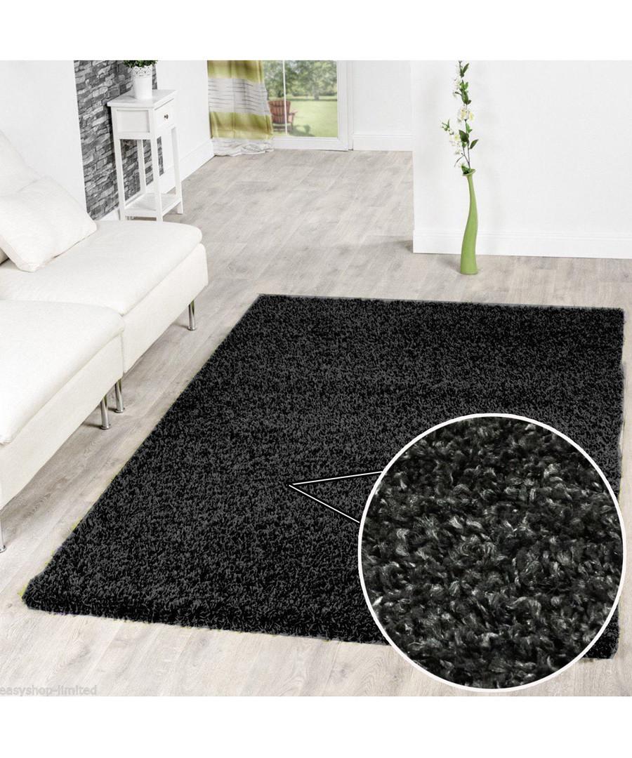 Charcoal shaggy pile rug 66 x 110cm Sale - Funky Buys