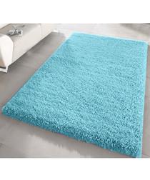 Duck egg shaggy pile rug 80 x 150cm