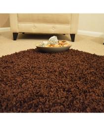 Chocolate shaggy pile rug 80 x 150cm
