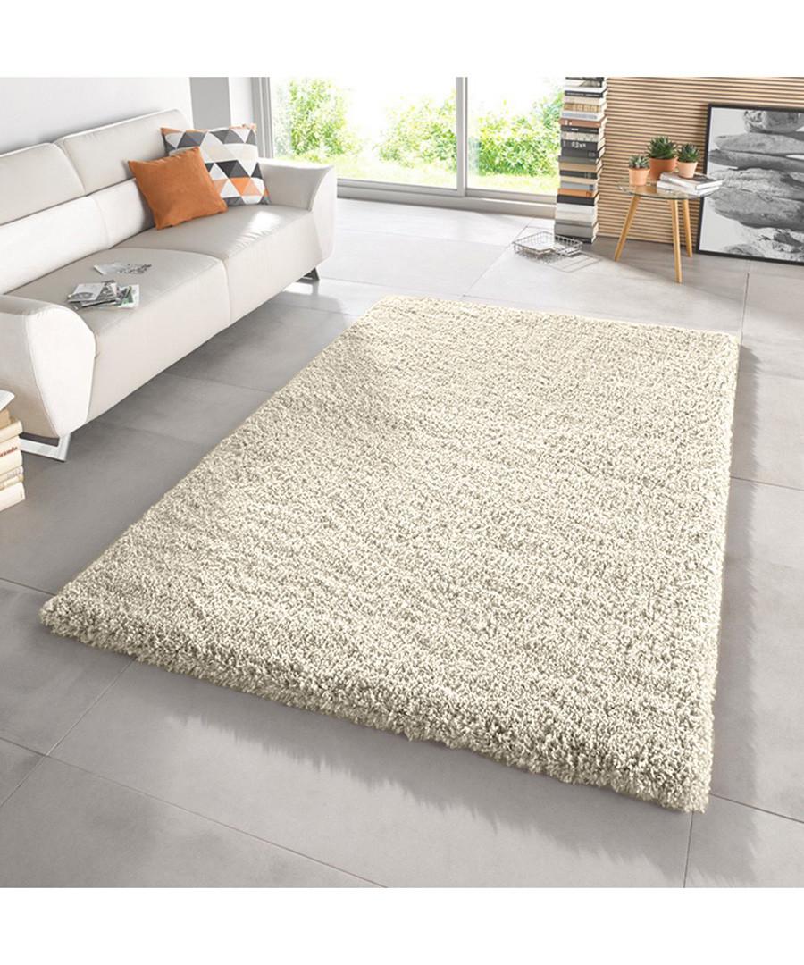 Cream shaggy pile rug 80 x 150cm Sale - Funky Buys
