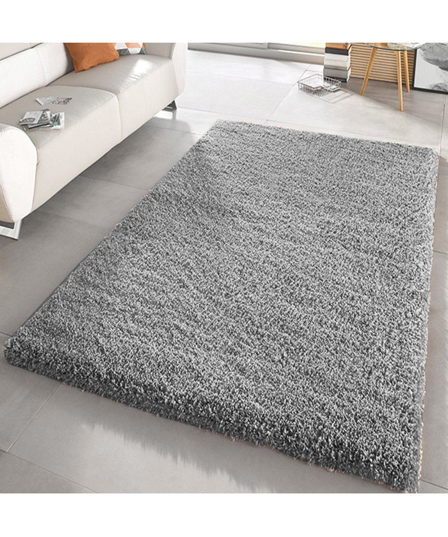 Silver shaggy pile rug 80 x 150cm Sale - Funky Buys