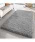 Silver shaggy pile rug 80 x 150cm Sale - Funky Buys Sale