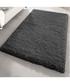 Black shaggy pile rug 120 x 170cm Sale - Funky Buys Sale