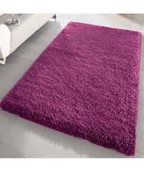 Aubergine shaggy pile rug 120 x 170cm