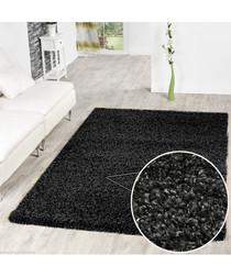 Charcoal shaggy pile rug 120 x 170cm