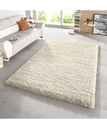 Cream shaggy pile rug 160 x 230cm