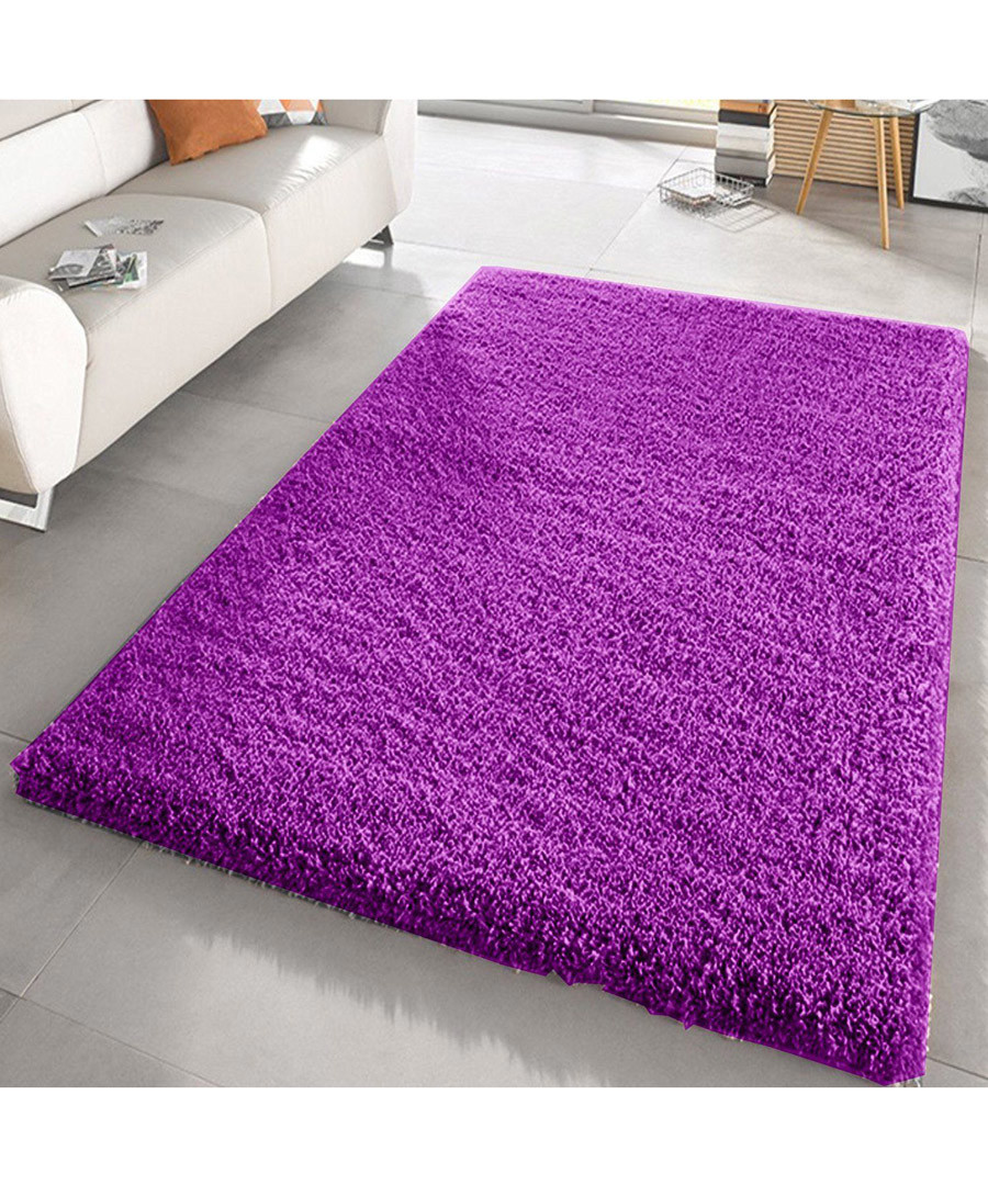 Purple shaggy pile rug 160 x 230cm Sale - Funky Buys