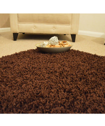 Chocolate shaggy pile rug 200 x 290cm