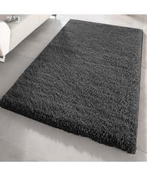 Black shaggy pile rug 200 x 290cm