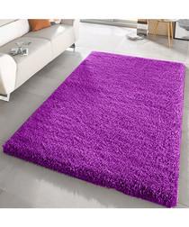 Purple shaggy pile rug 200 x 290cm