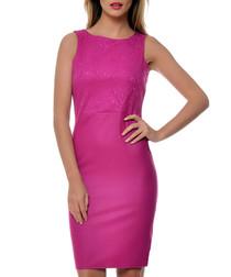 Fuchsia pink sleeveless dress