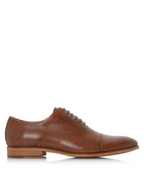 Padstow tan leather Oxford shoes