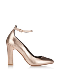 Aalto rose gold-tone leather heels