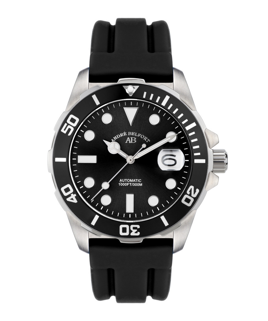Sous Les Mers black silicone watch Sale - andre belfort