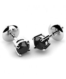 0.4ct black diamond & white gold studs