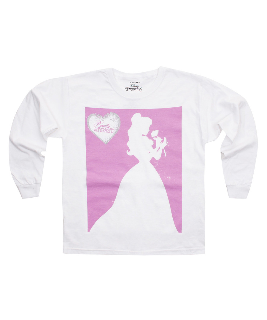 Girls' Belle white long sleeve top Sale - Disney