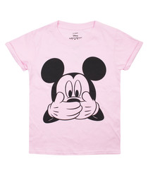 Mouse Laughing light pink cotton T-shirt
