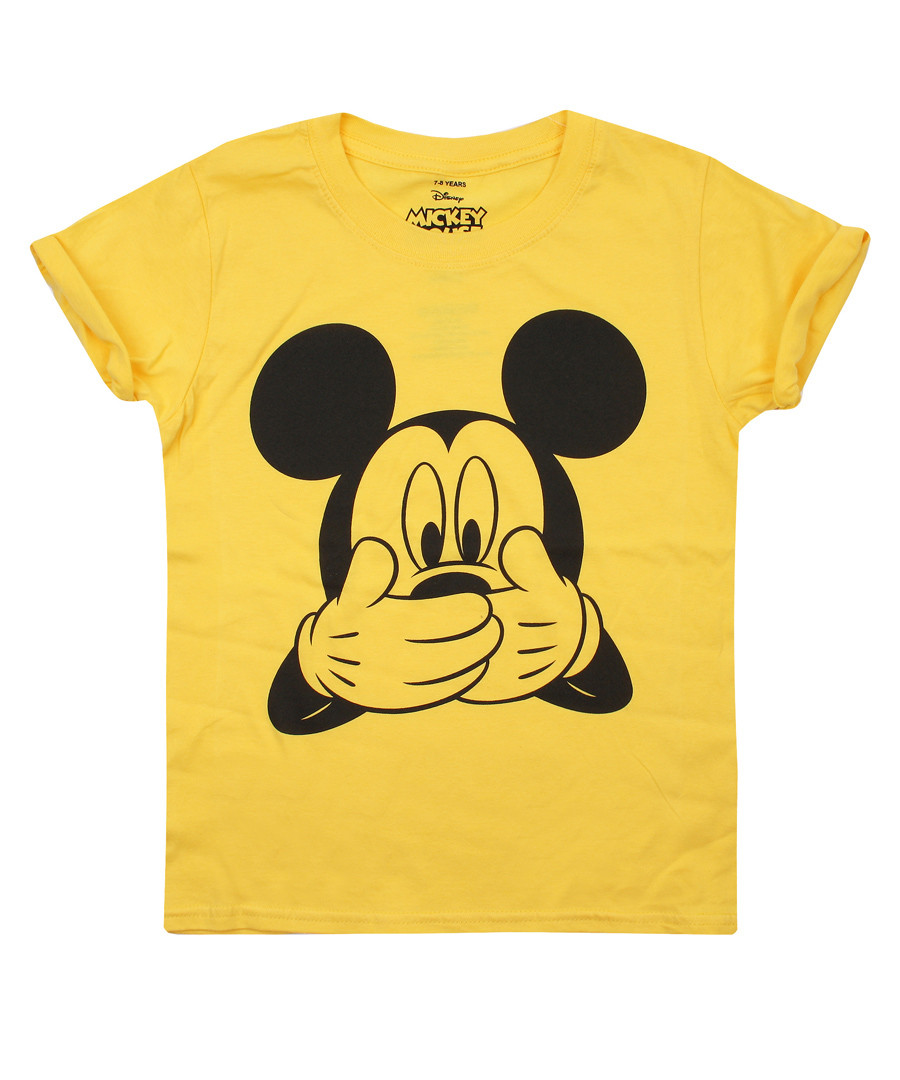 Girls' Mickey daisy yellow T-shirt Sale - Disney