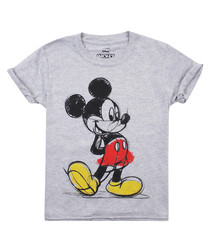 Coloured In grey cotton blend T-shirt