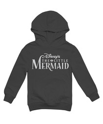 Logo grey cotton blend mermaid hoodie