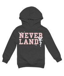 Girls' Neverland dark grey hoodie