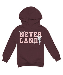 Neverland burgundy cotton blend hoodie