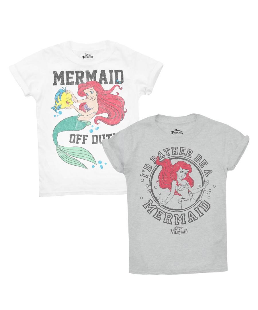 2pc Girls' Mermaid cotton T-shirt set Sale - disney