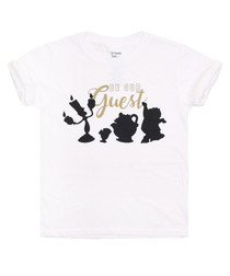 Girls' Be Our Guest white T-shirt