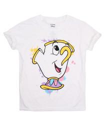 Chip Splatter white pure cotton T-shirt