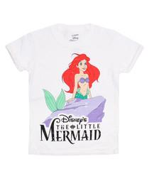 Girls' The Little Mermaid white T-shirt