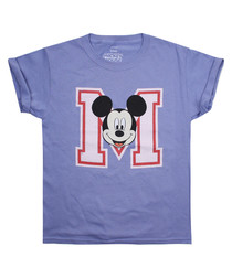Girls' College Mickey violet T-shirt